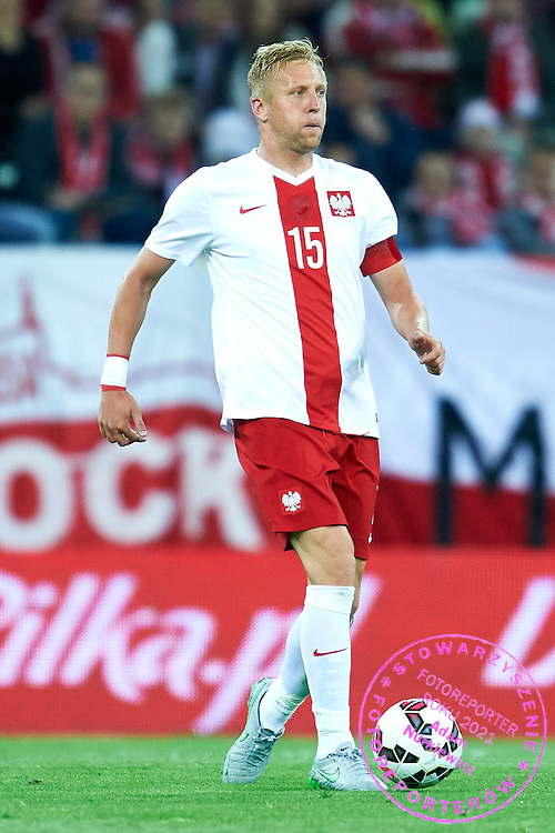 Kamil Glik from Poland controls the ball during international friendly soccer match between Poland and Greece at PGE Arena Stadium on June 16, 2015 in Gdansk, Poland.<br /> Poland, Gdansk, June 16, 2015<br /> <br /> Picture also available in RAW (NEF) or TIFF format on special request.<br /> <br /> For editorial use only. Any commercial or promotional use requires permission.<br /> <br /> Adam Nurkiewicz declares that he has no rights to the image of people at the photographs of his authorship.<br /> <br /> Mandatory credit:<br /> Photo by &copy; Adam Nurkiewicz / Mediasport