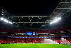 General View inside the stadium before the supporters arrive - Rogan/JMP - 01/11/2017 - FOOTBALL - Wembley Stadium - London, England - Tottenham Hotspur v Real Madrid - UEFA Champions League Group H.