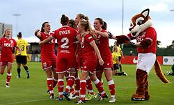 Bristol City Women celebrate Millie Farrow's opening goal against Oxford United Women - Mandatory by-line: Robbie Stephenson/JMP - 25/06/2016 - FOOTBALL - Stoke Gifford Stadium - Bristol, England - Bristol City Women v Oxford United Women - FA Women's Super League 2