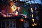 Christmas decorations are displayed uptown and on campus in Athens, Ohio on Sunday, December 9, 2012. Photo by Chris Franz