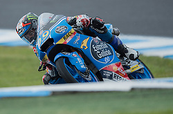 October 22, 2016 - Melbourne, Victoria, Australia - Spanish rider Jorge Navarro (#9) of Estrella Galicia 0,0 in action during the 3rd Moto3 Free Practice session at the 2016 Australian MotoGP held at Phillip Island, Australia. (Credit Image: © Theo Karanikos via ZUMA Wire)