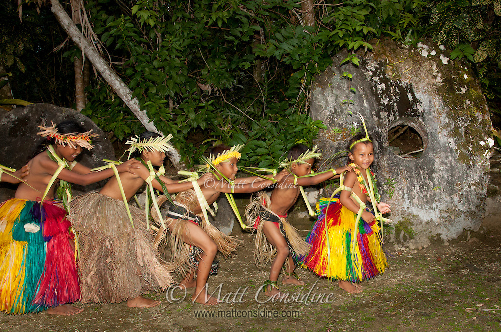 All age groups, including the very young, participate and enjoy traditional dance, Yap Micronesia (Photo by Matt Considine - Images of Asia Collection)