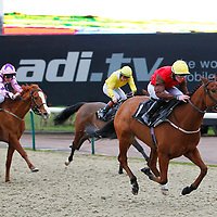 Mister Musicmaster and William Carson winning the 4.10 race