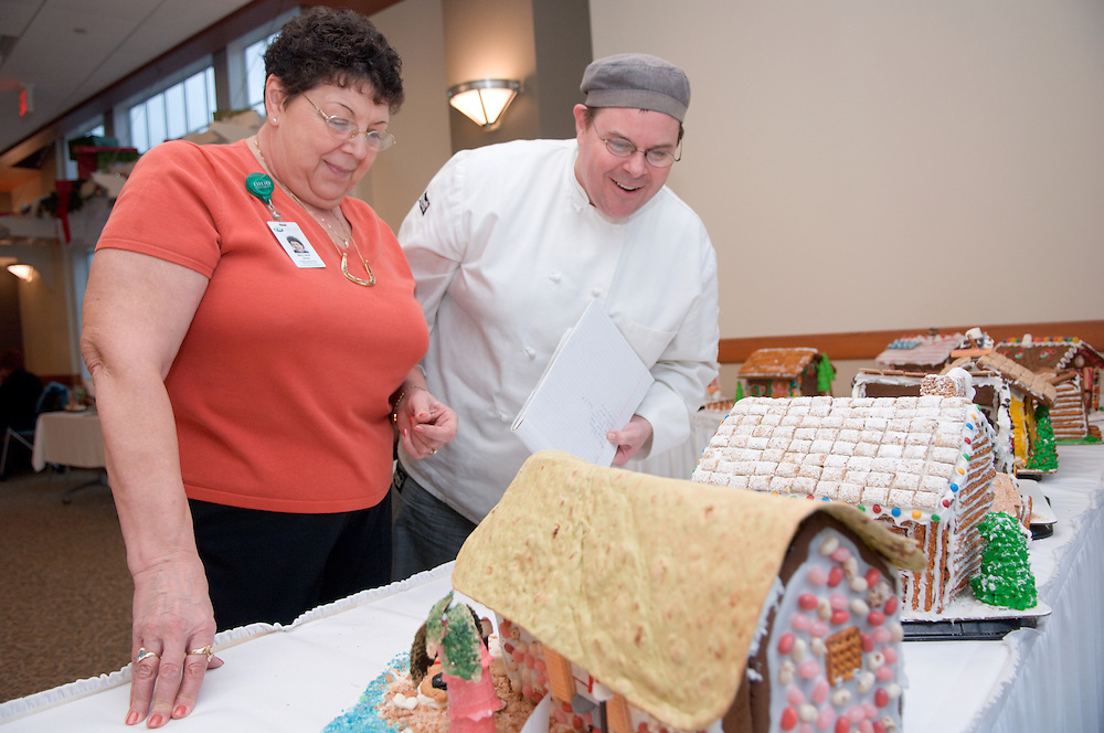 The Baker Food Court is hosting a Gingerbread Competition..The Judges:..Matt Rapposelli and Mary Jane Jones