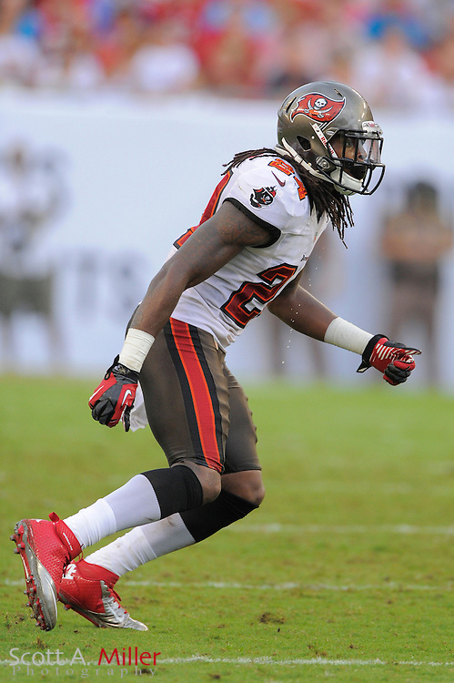Tampa Bay Buccaneers defensive back Mark Barron (24)during the Bucs game against the Carolina Panthers at Raymond James Stadium  on September 9, 2012 in Tampa, Florida.  The Bucs won 16-10..©2012 Scott A. Miller...