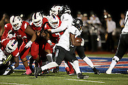 Bishop Lynch running back Jaire Moore finds a path to the end zone to score during the TAPPS Division I state championship game on Saturday, Dec. 3, 2016 at Panther Stadium in Hewitt, Texas. Bishop Lynch High School won 21-17. (Photo by Kevin Bartram)