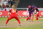 Loughborough Lightning's Hayley Matthews during the Women's Cricket Super League match between Lancashire Thunder and Loughborough Lightning at the Emirates, Old Trafford, Manchester, United Kingdom on 20 August 2019.