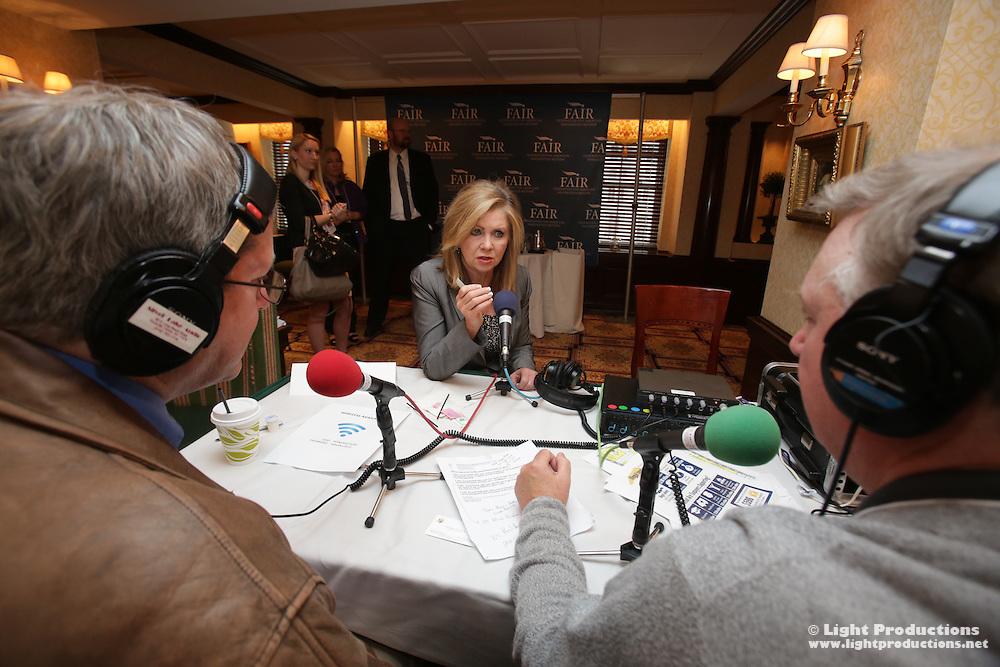 U.S. Representative Marsha Blackburn (R-TN) on air at F.A.I.R. Hold Their Feet To The Fire live Radio Row Washington, D.C.