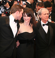Robert Pattinson, Juliette Binoche and  Don Dellilo at the Cosmopolis gala screening at the 65th Cannes Film Festival France. Cosmopolis is directed by David Cronenberg and based on the book by writer Don Dellilo.  Friday 25th May 2012 in Cannes Film Festival, France.