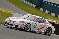 2009 Porsche Carrera Cup Great Britain.  Donington Park, Derby, United Kingdom. 16th-17th May 2009.  .(23) - Robin Clark - Par Motorsport .World Copyright: Peter Taylor/PSP