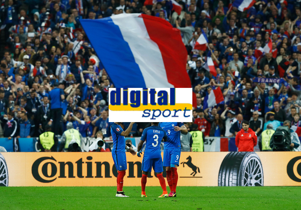 Olivier Giroud (France) celebrating after the goal. esultanza gol<br /> Paris 03-07-2016 Stade de France Football Euro2016 France - Iceland / Francia - Islanda Quarter finals <br /> Foto Matteo Ciambelli / Insidefoto