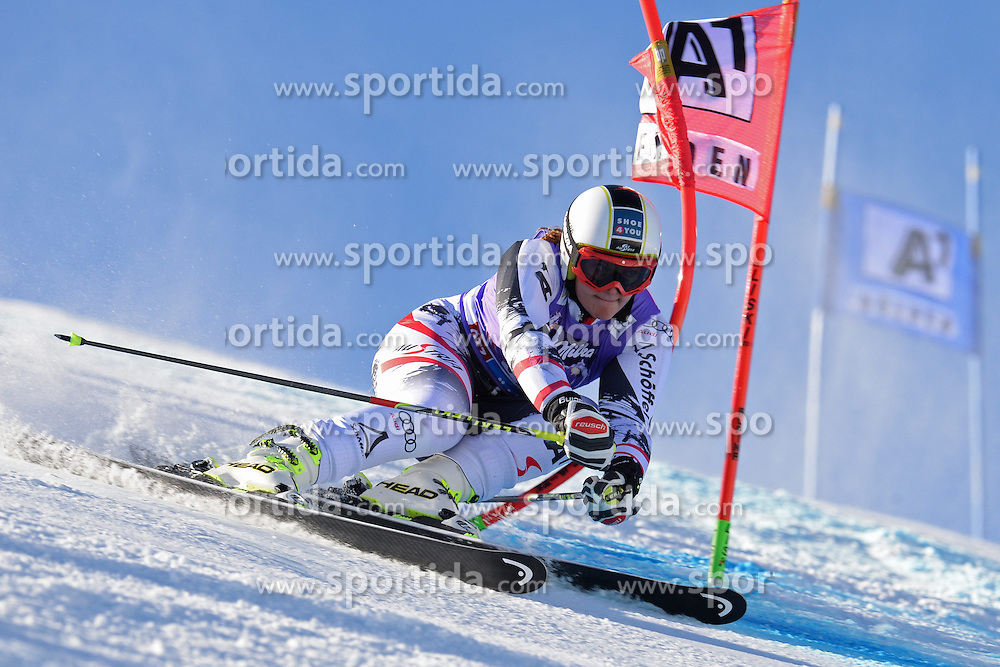 26.10.2013, Rettembach Ferner, Soelden, AUT, FIS Ski Alpin, FIS Weltcup, Ski Alpin, 1. Durchgang, im Bild Ramona Siebenhofer from Austria // Ramona Siebenhofer from Austria during 1st run of ladies Giant Slalom of the FIS Ski Alpine Worldcup opening at the Rettenbachferner in Soelden, Austria on 2012/10/26 Rettembach Ferner in Soelden, Austria on 2013/10/26. EXPA Pictures © 2013, PhotoCredit: EXPA/ Mitchell Gunn<br /> <br /> *****ATTENTION - OUT of GBR*****