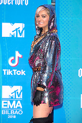 November 4, 2018 - Bilbao, Bizkaia, Spanien - Bebe Rexha bei der Verleihung der MTV European Music Awards 2018 in der Bizkaia Arena. Bilbao, 04.11.2018 (Credit Image: © Future-Image via ZUMA Press)