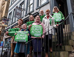 Pictured: scottish Green Party co-leader Lorna Slater and Lothian MSP Alison Johnstone, hope the Green candidates  step up to the plate.<br /><br />, Scottish Green Party co-leader Lorna Slater and Lothian MSP Alison Johnstone joined Edinburgh General Election candidates as they canvased voters..<br /><br />Ger Harley | EEm 12 November 2019