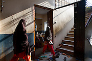 These images were made as part of a personal project on the handloom weavers in Varanasi. In these, I focused on the education of the weaver's children.I am grateful to the help I received from the People's Vigilance Committee on Human Rights (PVCHR).