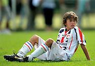 30-08-2008 VOETBAL:AUDAX JEUGDTOERNOOI 2008:TILBURG<br /> Geordi Wetzel is zwaar teleurgesteld na het verlies tegen Feyenoord<br /> Foto: Geert van Erven