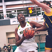 2nd year power forward, Angela Bongomin (14) of the Regina Cougars during the Women's Basketball Home Game on Fri Nov 02 at Centre for Kinesiology,Health and Sport. Credit: Arthur Ward/Arthur Images