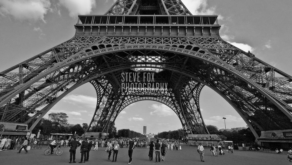 Base of Eiffel Tower, Paris, France