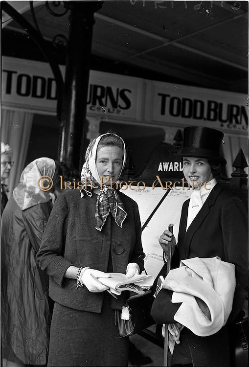 09/08/1962<br /> 08/09/1962<br /> 09 August 1961<br /> RDS Horse Show, Ballsbridge Dublin, Thursday. <br /> Picture show Sisters at Show, Mrs T.N. Desmond, Estate House, Middleton, Co. Cork and Miss Mercedes Punch, Kilronan, Glanmire, Co. Cork.