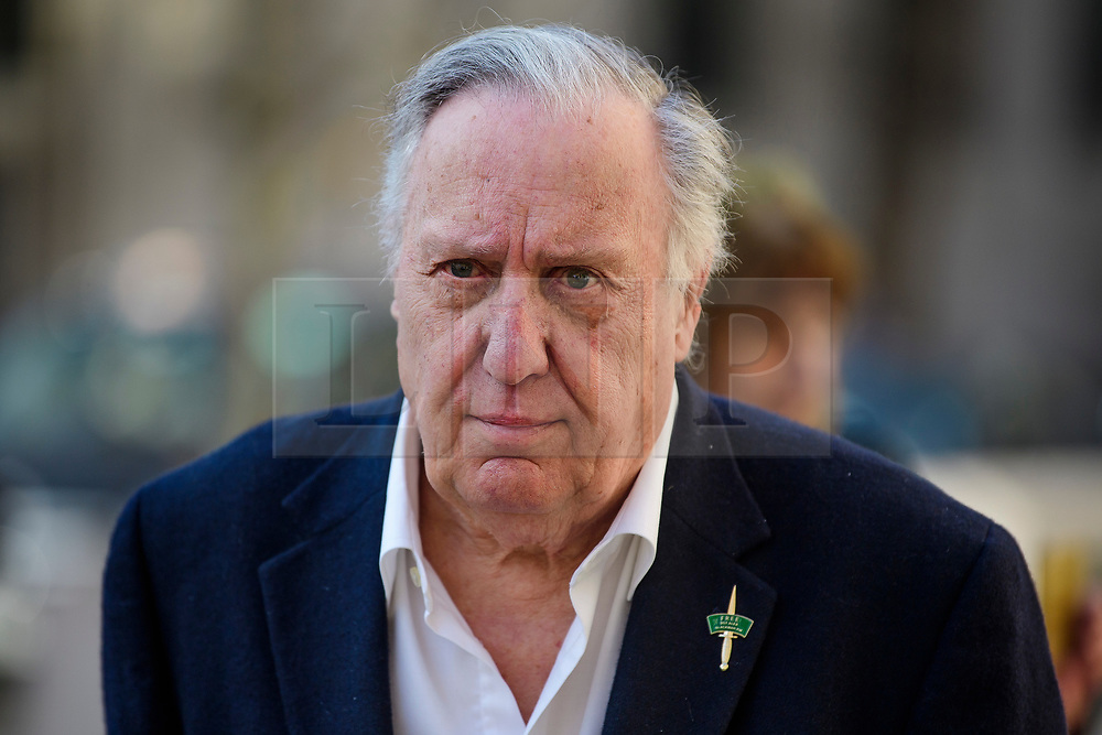 © Licensed to London News Pictures.15/03/2017.London, UK.  Author FREDERICK FORSYTH leaves the Royal Courts of Justice in London, where a judge reduced the conviction of Sgt Blackman from Murder to Manslaughter, on appeal.  Also known as Marine A, Sgt Blackman was appealing a life sentence for the murder of a wounded Taliban fighter in Afghanistan in 2011.Photo credit: Ben Cawthra/LNP