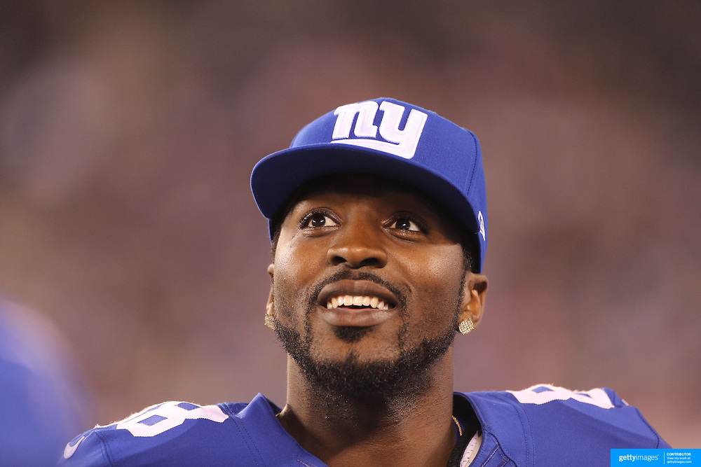 Hakeem Nicks, New York Giants, during the New York Giants V Indianapolis Colts, NFL American Football Pre Season match at MetLife Stadium, East Rutherford, NJ, USA. 18th December 2013. Photo Tim Clayton