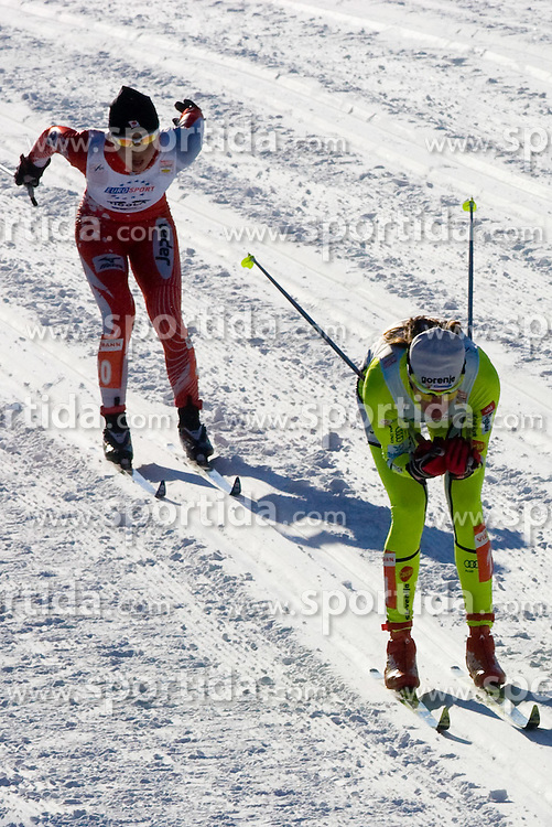 Petra Majdic of Slovenia at Ladies 15 km Classic Mass Start Competition of Viessmann Cross Country FIS World Cup Rogla 2009, on December 20, 2009, in Rogla, Slovenia. (Photo by Vid Ponikvar / Sportida)