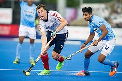 Great Britain's Harry Martin. Great Britain v India - Hero Hockey Champions Trophy, Lee Valley Hockey & Tennis Centre, London, UK on 11 June 2016. Photo: Simon Parker