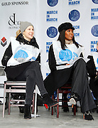 Kelly Rutherford and Naomi Campbell attend the March To End Violence Against Women at the United Nations Headquarters in New York City, New York on March 07, 2014.