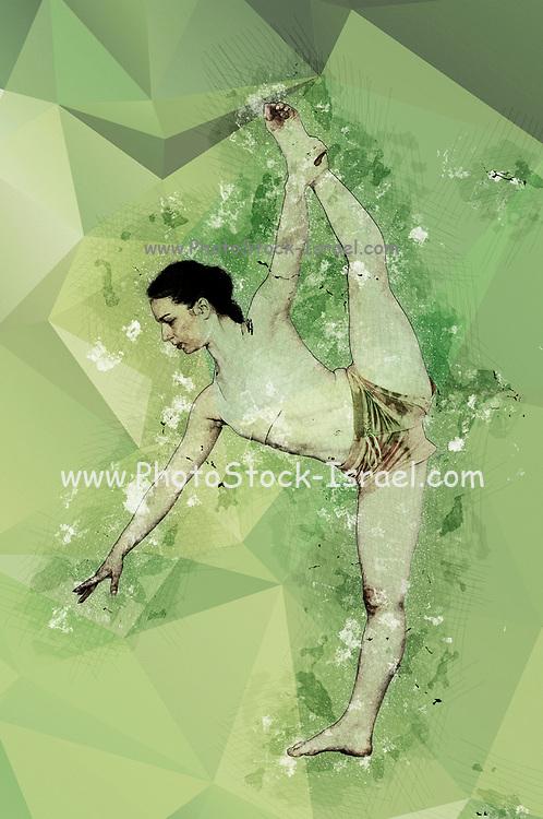 Digitally enhanced image of a modern female dancer