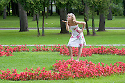 Rechnoi Vokzal. Posing for a friend...A river cruise from Moscow to St. Petersburg aboard MS Kazan, the most luxurious vessel (four star plus) operating in Russia. It is run by Austrian River Cruises under strictly Western standards, chartered - amongst others - by Club 50, a senior's travel agency based in Vienna.