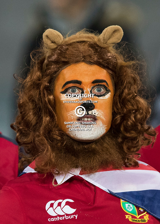 British & Irish Lions Fan during game 7 of the British and Irish Lions 2017 Tour of New Zealand, the first Test match between  The All Blacks and British and Irish Lions, Eden Park, Auckland, Saturday 24th June 2017<br /> (Photo by Kevin Booth Steve Haag Sports)<br /> <br /> Images for social media must have consent from Steve Haag