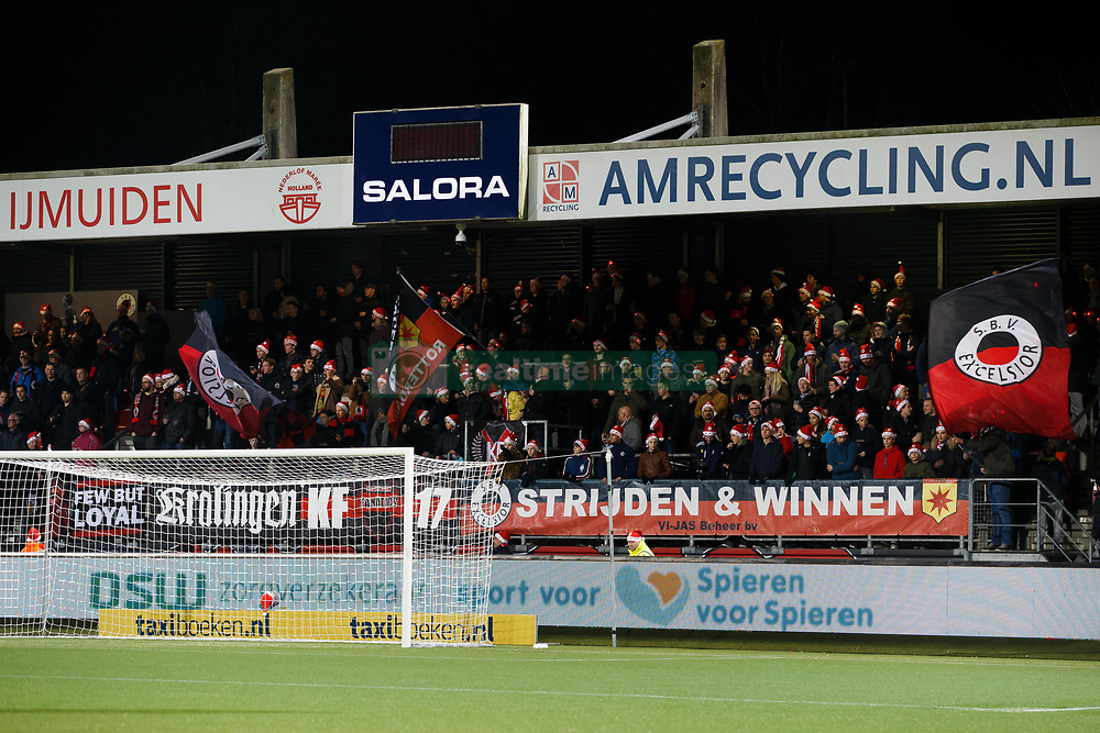 fans of Excelsior during the Dutch Eredivisie match between sbv Excelsior Rotterdam and FC Twente at Van Donge & De Roo stadium on December 23, 2017 in Rotterdam, The Netherlands