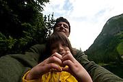 Roddy and Eliza at Rainy Lake, North Cascades National Park, Washington, US