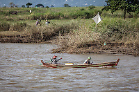 Local river life along the Irrawaddy River near Mandalay, Burma.