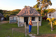 Thatched farm house in the Campo Florido area of Ciudad de La Habana, Cuba.