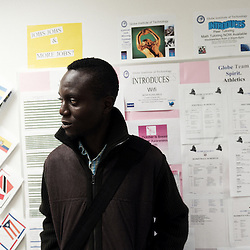 "NEW YORK, NY. OCTOBER 15, 2010. Tokunbo Ajiboye, aka ""TK"", at the ""Globe Institute of Technology"" in Manhattan, a few blocks away from Time Square. (Photo: Antoine Doyen)"
