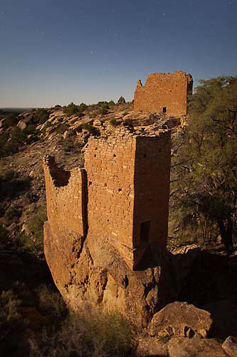 Titled Tower, Holly Group, Hovenweep National Monument, Colorado