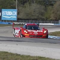 Sebring, FL - Mar 17, 2016:  The Action Express Racing Corvette DP races through the turns at the Mobil 1 12 Hours of Sebring at Sebring International Raceway in Sebring, FL.