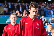 Laurent Koscielny of Arsenal (6) walks out to the pitch during the Premier League match between Huddersfield Town and Arsenal at the John Smiths Stadium, Huddersfield, England on 9 February 2019.