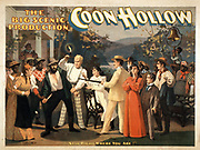 The big scenic production Coon Hollow by C.E. Callahan 1845-1917. c1894.
