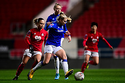 Kika van Es of Everton Women is marked by Ebony Salmon of Bristol City - Mandatory by-line: Ryan Hiscott/JMP - 17/02/2020 - FOOTBALL - Ashton Gate Stadium - Bristol, England - Bristol City Women v Everton Women - Women's FA Cup fifth round