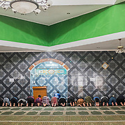 Prayer time at the local Mubarak Ahdadiyya mosque in Bandung, West Java, Indonesia