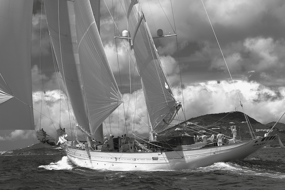 S/Y Adela racing in the 2012 RORC Caribbean 600.