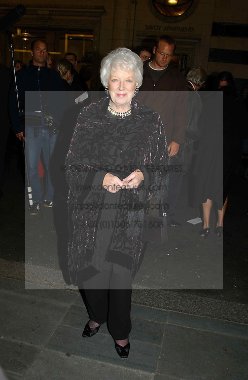 Actress JUNE WHITFIELD at the opening night of the musical Murderous Instincts at The Savoy Theatre, London on 7th October 2004.<br /><br />NON EXCLUSIVE - WORLD RIGHTS