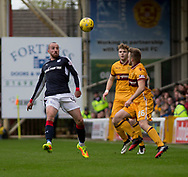 Dundee&rsquo;s James Vincent and Motherwell&rsquo;s Allan Campbell - Motherwell v Dundee, Fir Park, Motherwell, Photo: David Young<br /> <br />  - &copy; David Young - www.davidyoungphoto.co.uk - email: davidyoungphoto@gmail.com