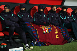 October 31, 2018 - Leon, Leon, Spain - Bench of Barcelona  during the King Spanish championship, , football match between Cultural Leonesa and Barcelona, October 31, in Reino de Leon Stadium in Leon, Spain. (Credit Image: © AFP7 via ZUMA Wire)