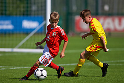 NEWPORT, WALES - Wednesday, July 25, 2018: Kai Evans during the Welsh Football Trust Cymru Cup 2018 at Dragon Park. (Pic by Paul Greenwood/Propaganda)