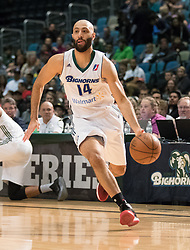 March 20, 2017 - Reno, Nevada, U.S - Reno Bighorn Guard KENDALL MARSHALL (14) during the NBA D-League Basketball game between the Reno Bighorns and the Texas Legends at the Reno Events Center in Reno, Nevada. (Credit Image: © Jeff Mulvihill via ZUMA Wire)
