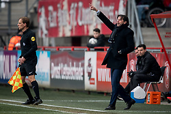 coach Ernest Faber of FC Groningen during the Dutch Eredivisie match between FC Twente Enschede and FC Groningen at the Grolsch Veste on March 04, 2018 in Enschede, The Netherlands