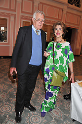 RICHARD INGRAMS and MAUREEN LIPMAN at the 20th anniversary reception for The Oldie Magazine held at Simpsons in The Strand, London on 19th July 2012.